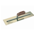 Kraft Tool Co. 16 x 5 in. Elite Series Five Star Golden Stainless Steel Plaster Trowel with Wood Handle