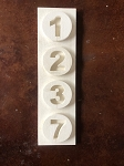 STYROFOAM HOUSE NUMBERS # 44
